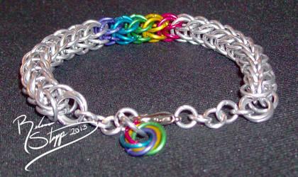 Silver Rainbow Persian Bracelet