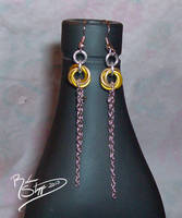 Yellow Mobius Earrings