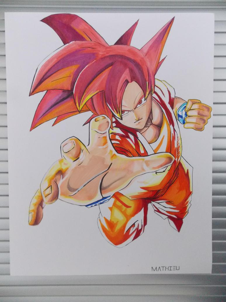 Goku Super Saiyan God Drawings Goku Super Saiyan...774