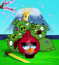 Angry Birds Fight by Stormtrooper-pig