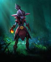 Dark Forest Elf - Illustration by EthanMck