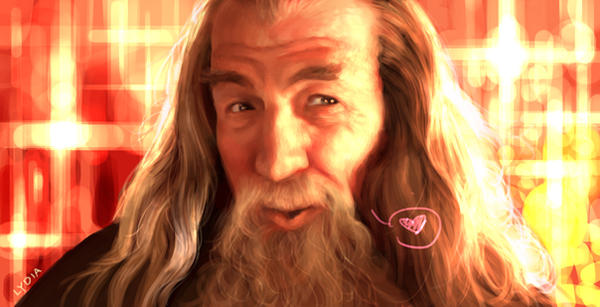 Gandalf says hi by lydia-the-hobo