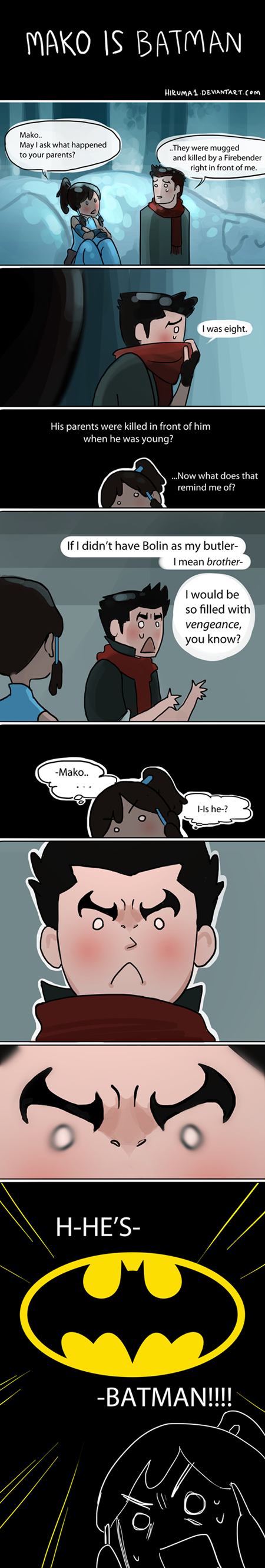 Mako is Batman by lydia-the-hobo