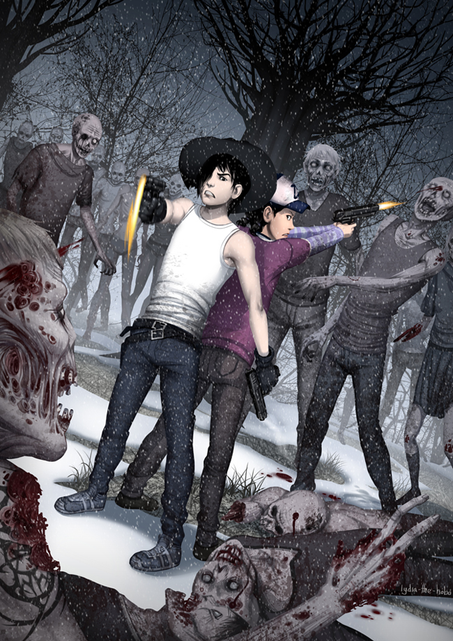 The Walking Dead_Carl and Clem_2 by lydia-the-hobo