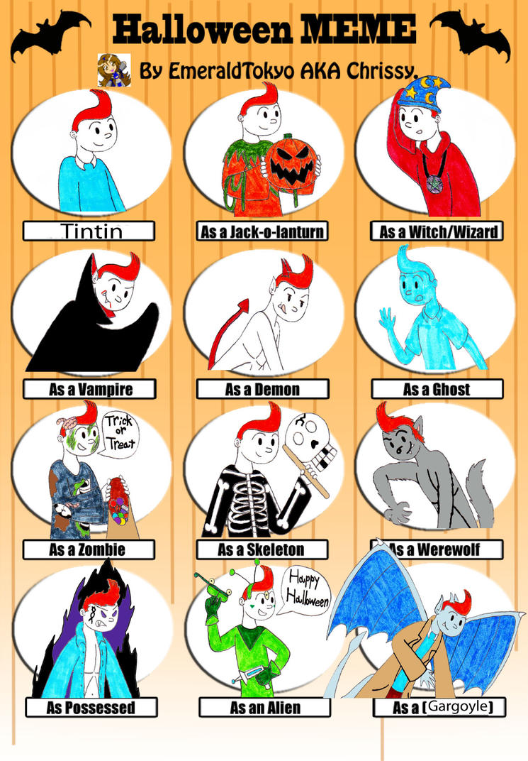 Halloween Meme with Tintin by TandP on DeviantArt