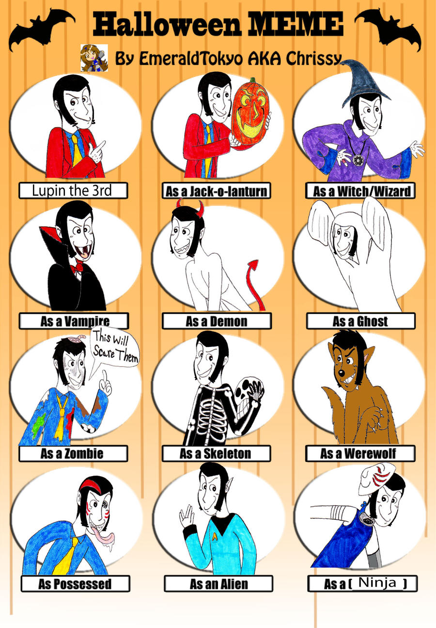 Halloween Meme with Lupin III by TandP on DeviantArt