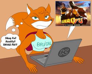 Foxy Roxy's reaction to the new Shaq Fu by Hypercat-Z