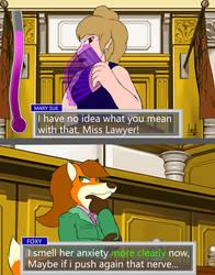 Ace attorney: Foxy Anderson by Jedader by Hypercat-Z