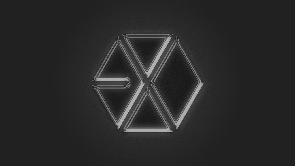 exo metallic logo by aletscalsone on deviantart