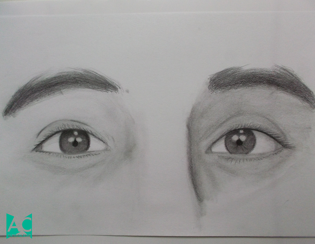 Pencil drawings of eyes step by step