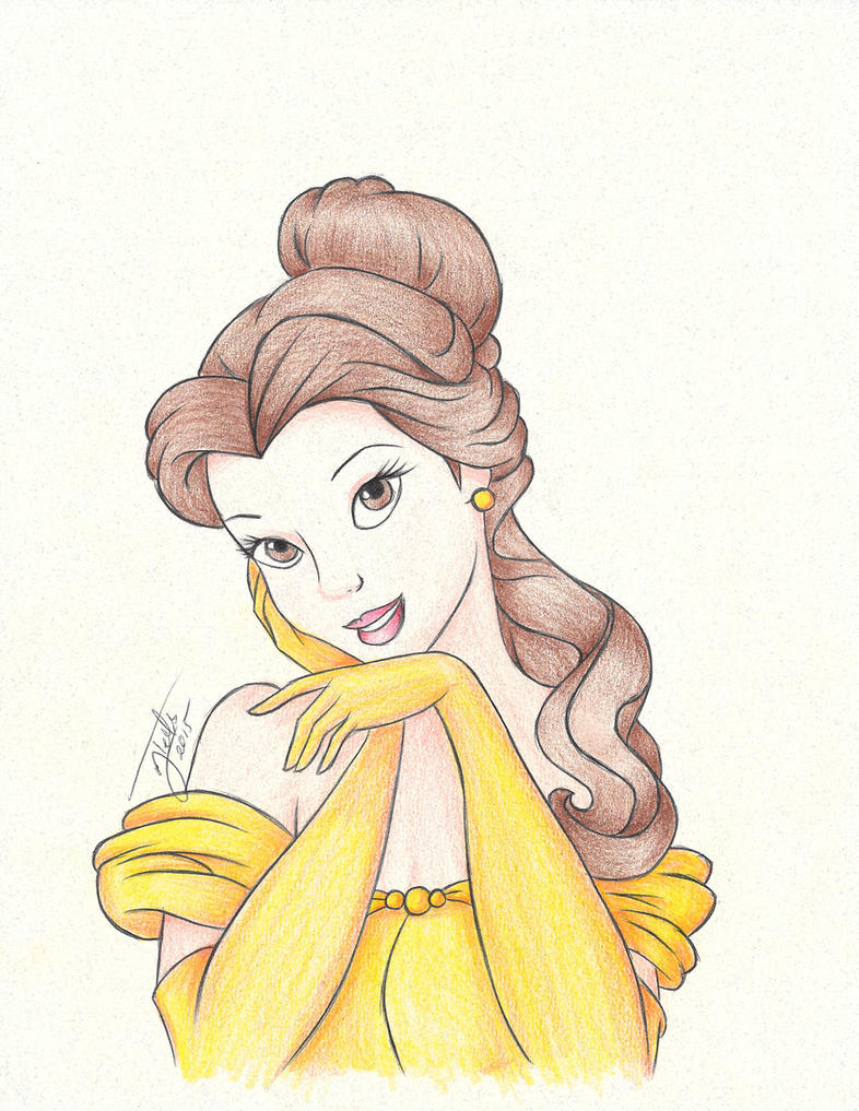 Belle :: Beauty and the Beast | Drawing by aletscalsone on ...