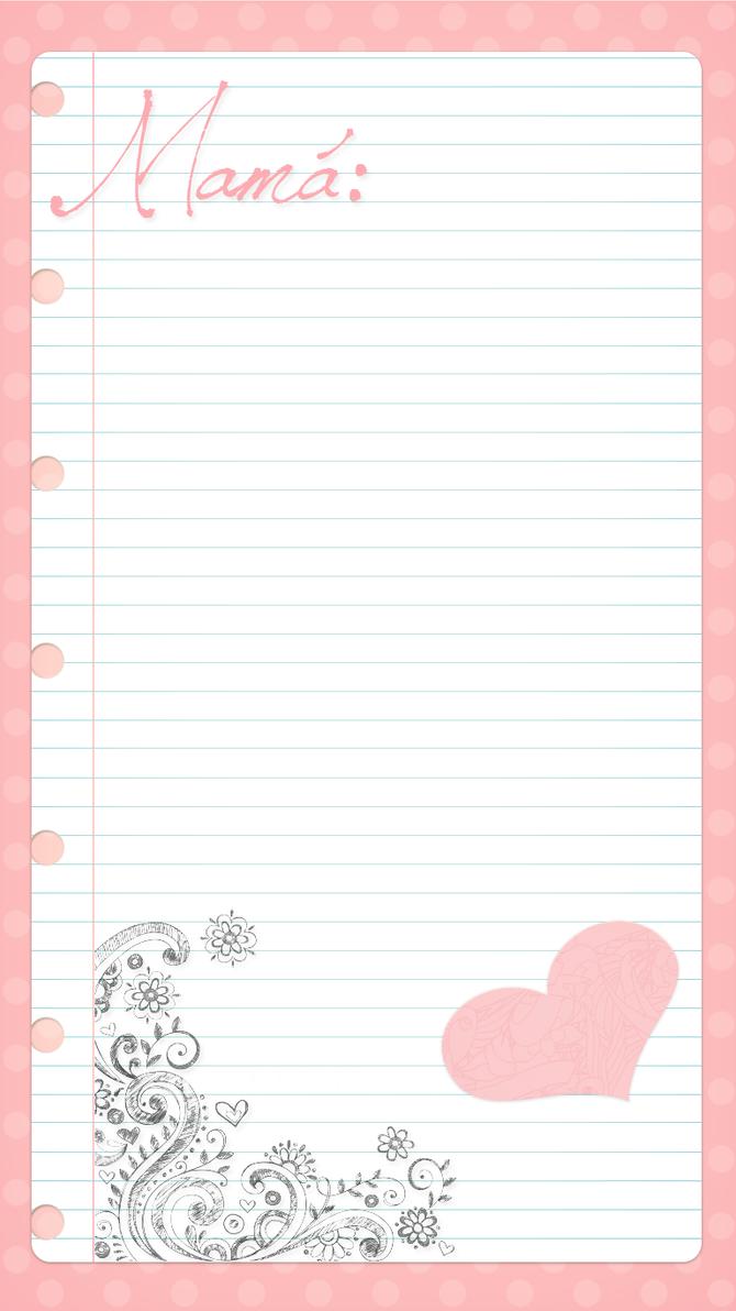 Plantilla para carta  By me by a-Sonrix