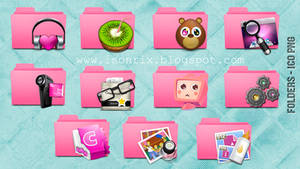 Folders pink icons