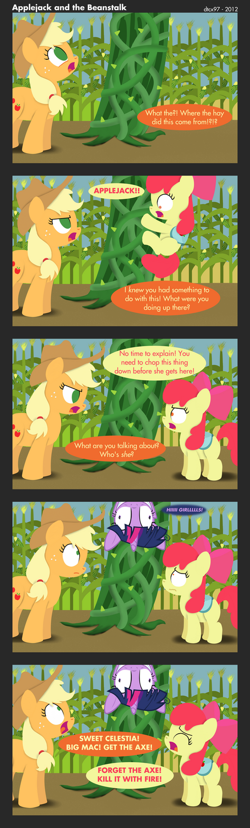 Applejack and the Beanstalk by postcrusade