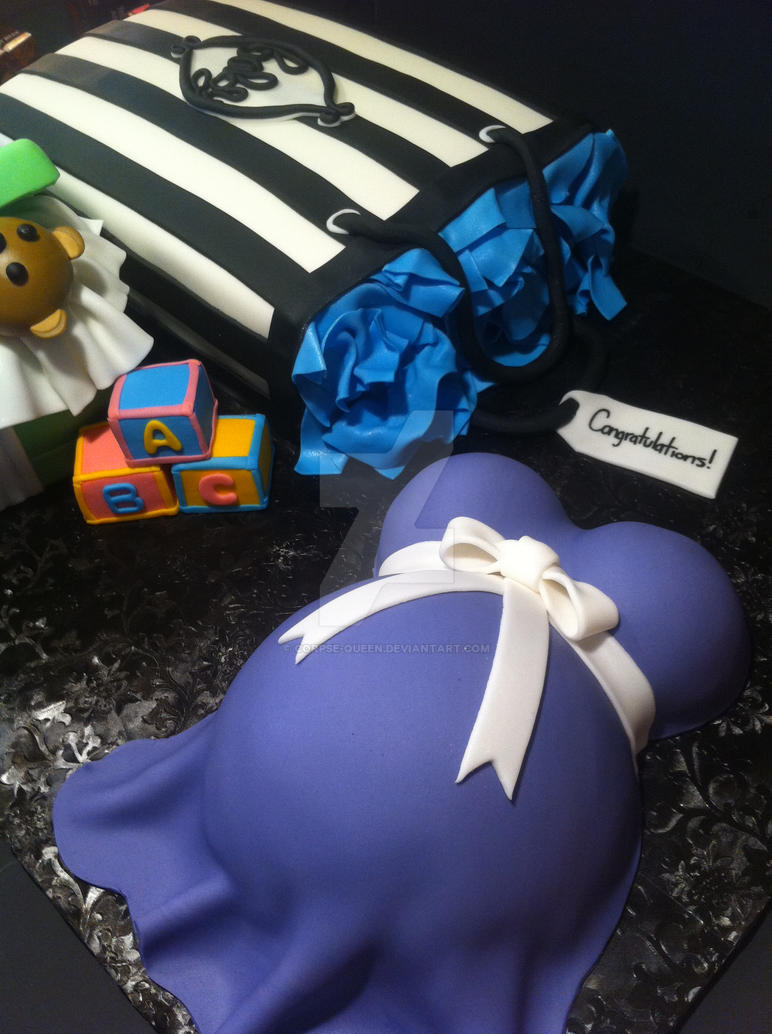 Baby Shower Gifts Cakes by Corpse-Queen