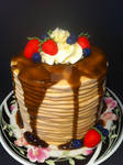 Stack of Pancakes Cake