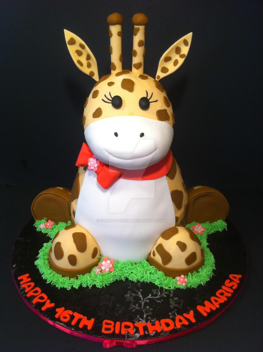 3D Giraffe Cake by Corpse-Queen