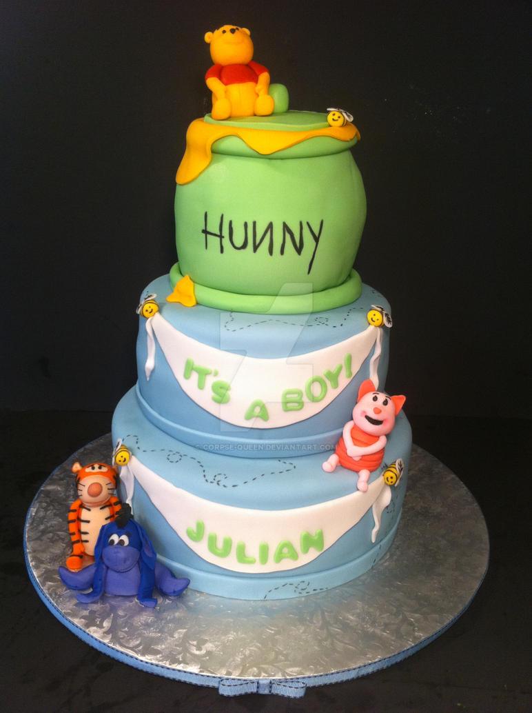 Winnie The Pooh Babyshower Cake By Corpse Queen On Deviantart