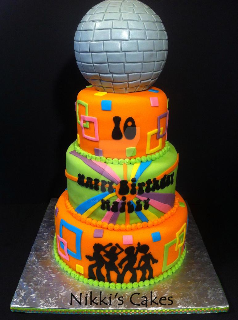 Disco Birthday Cake By Corpse Queen On Deviantart
