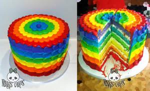 Rainbow Buttercream Petal Cake 2