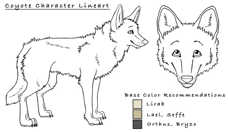how to draw a coyote face easy