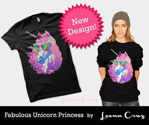 Fabulous Unicorn Princess T shirt