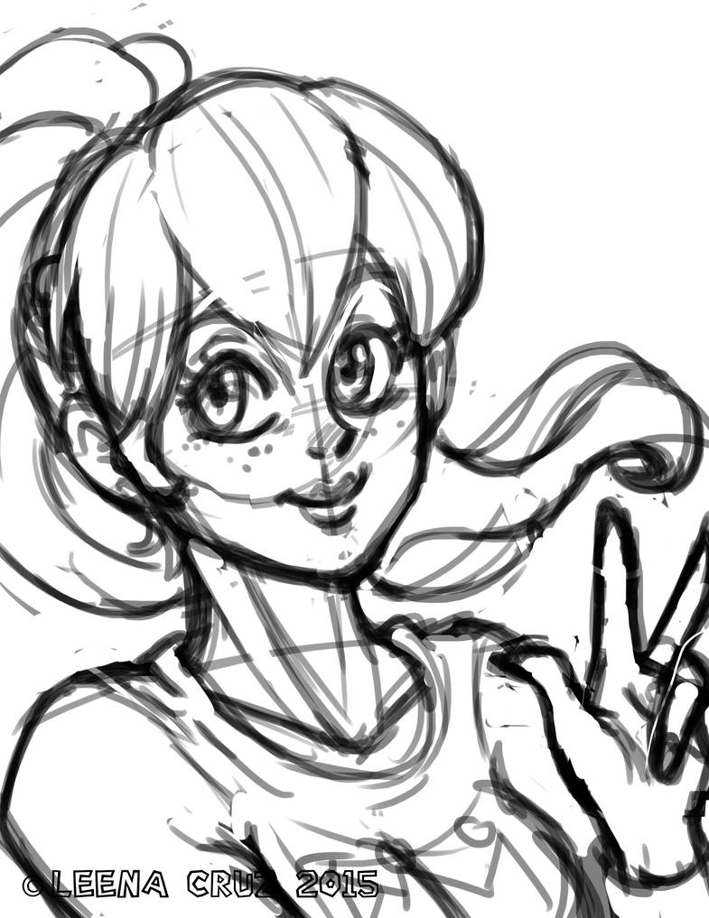 Princess Peach Sketch Commission by LeenaCruz