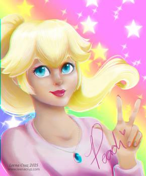 Princess Peach as a High School student :3