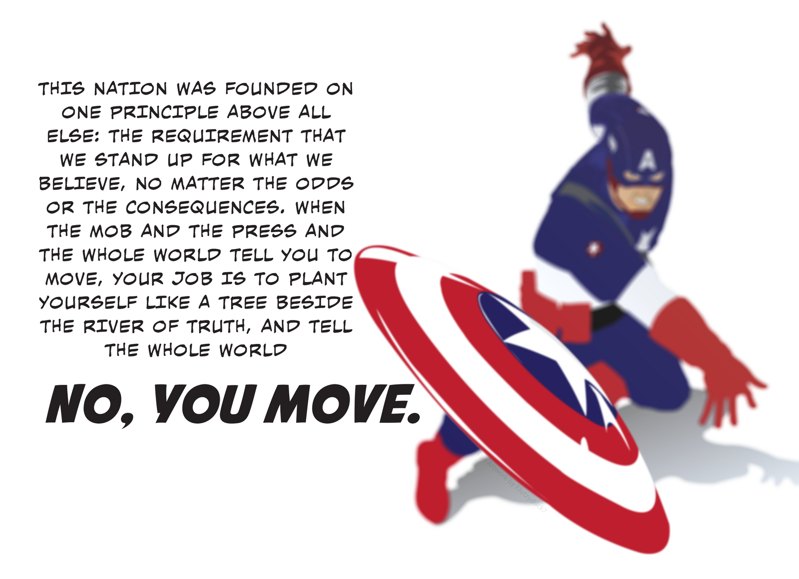 Captain America Quote Wallpaper by KlutzyDuck on DeviantArt