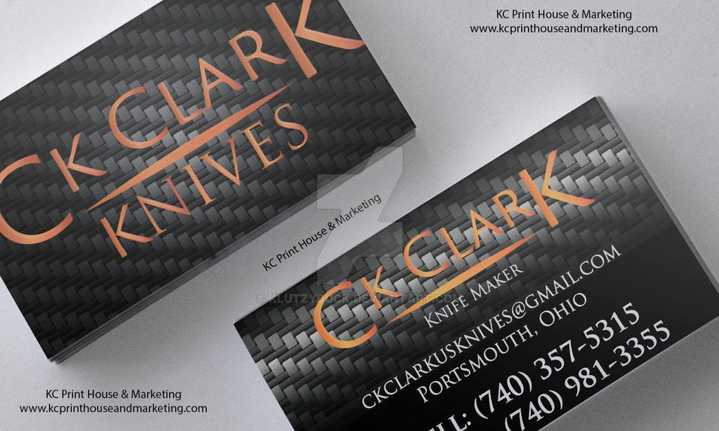 CK Clark Knives Logo And Business Cards by KlutzyDuck on DeviantArt