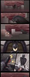Batman vs. Godzilla by Algiark
