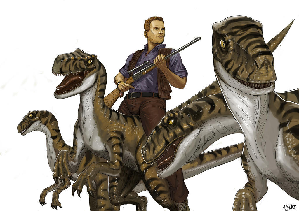 Riding with Velociraptors by Algiark