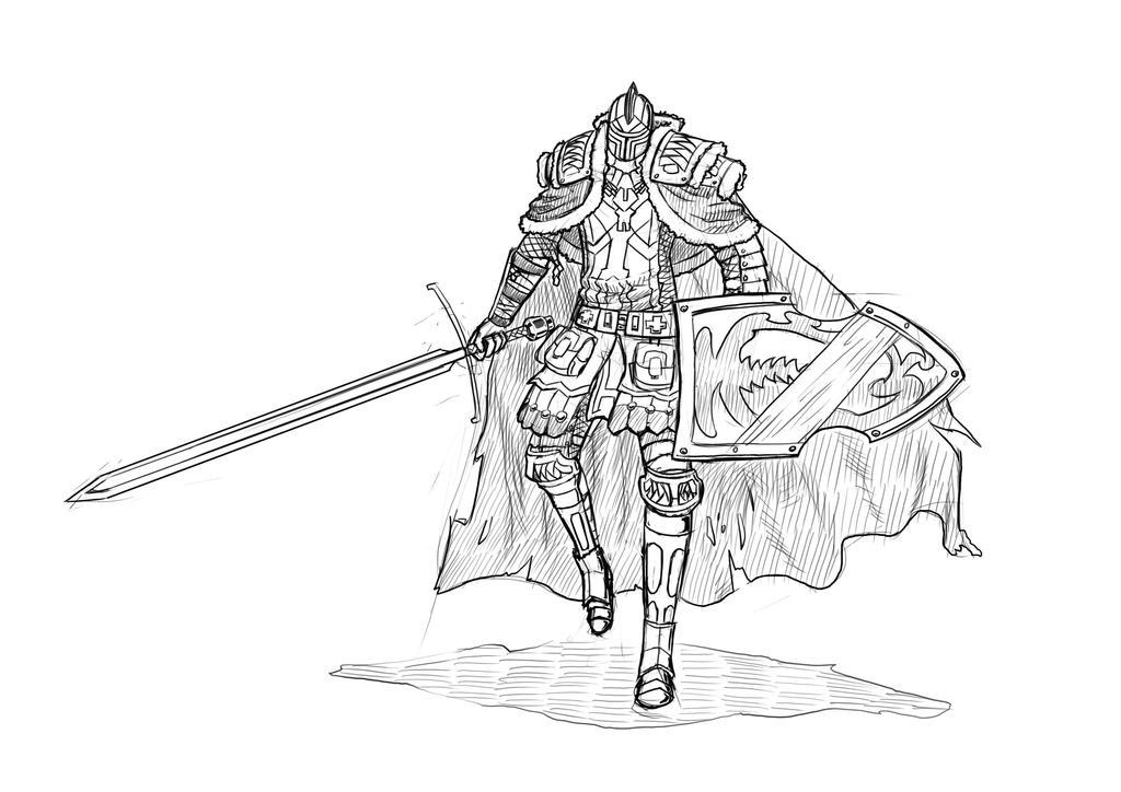 Soma random paladin sketch by Algiark