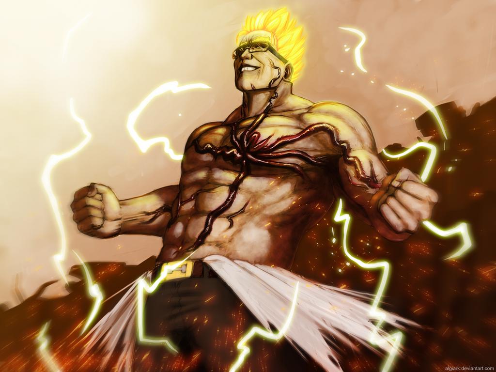 Super Saiyan Senator Armstrong by Algiark