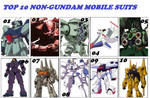 Top 10 Favorite Mobile Suits (Not Gundams)