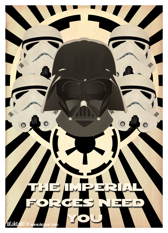 Star Wars Propaganda Poster 1 by Dejas