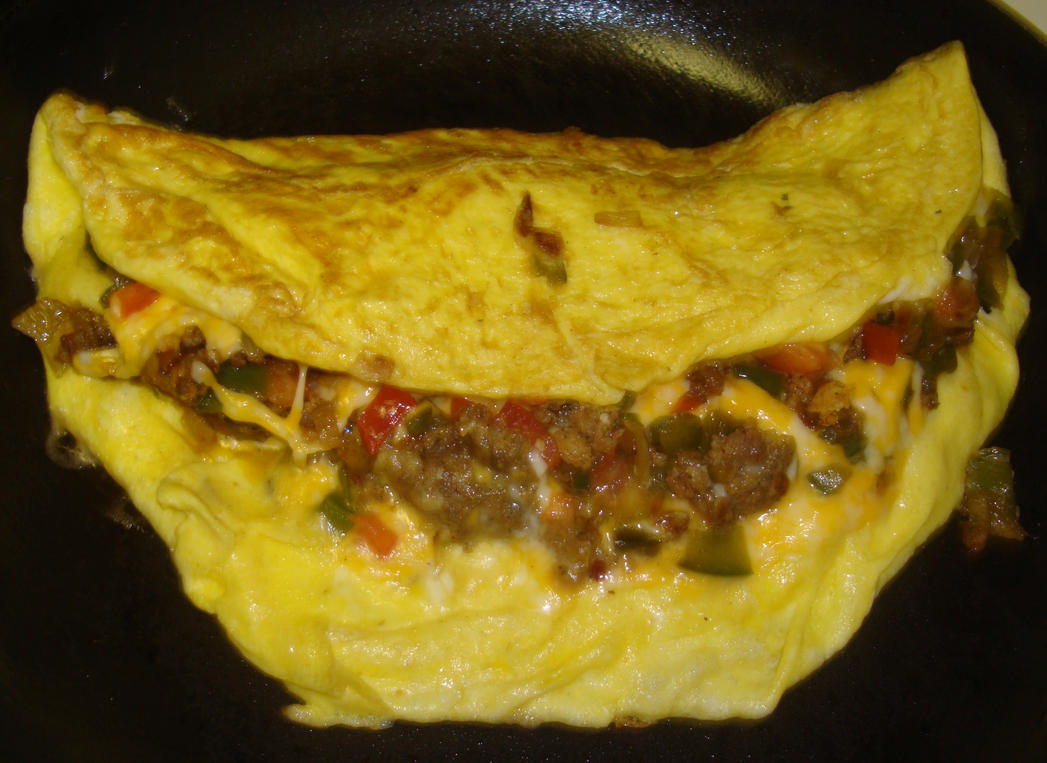 how to cook an egg omelete in a tomato rare