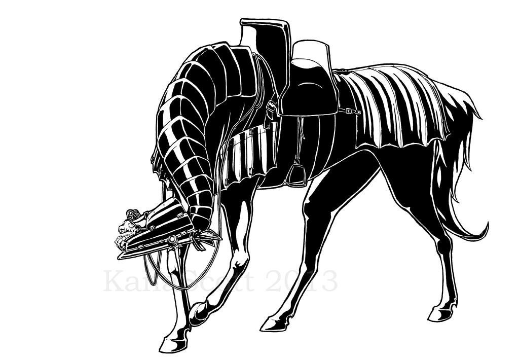 DnDemon horse by KanaScott