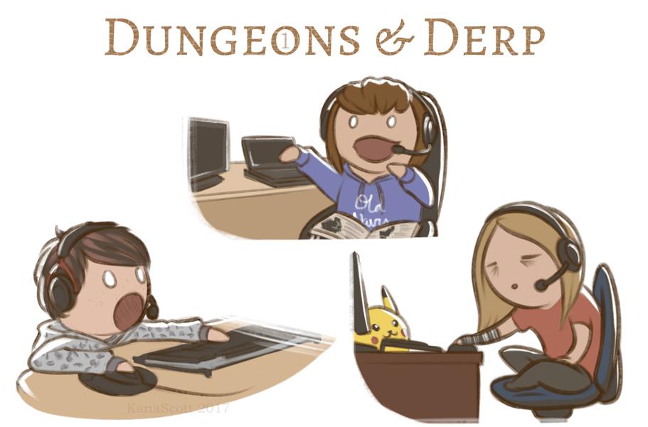 Dungeons n Derp by KanaScott