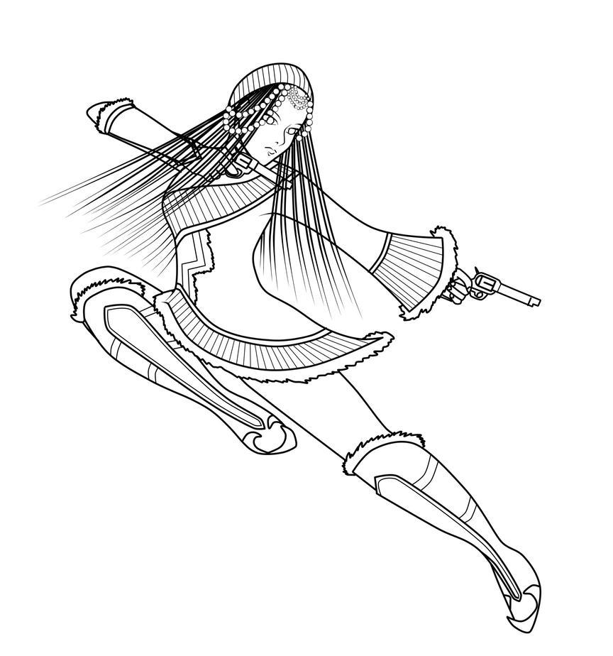 Line Art Gun : Gun fu by tokiseraph on deviantart