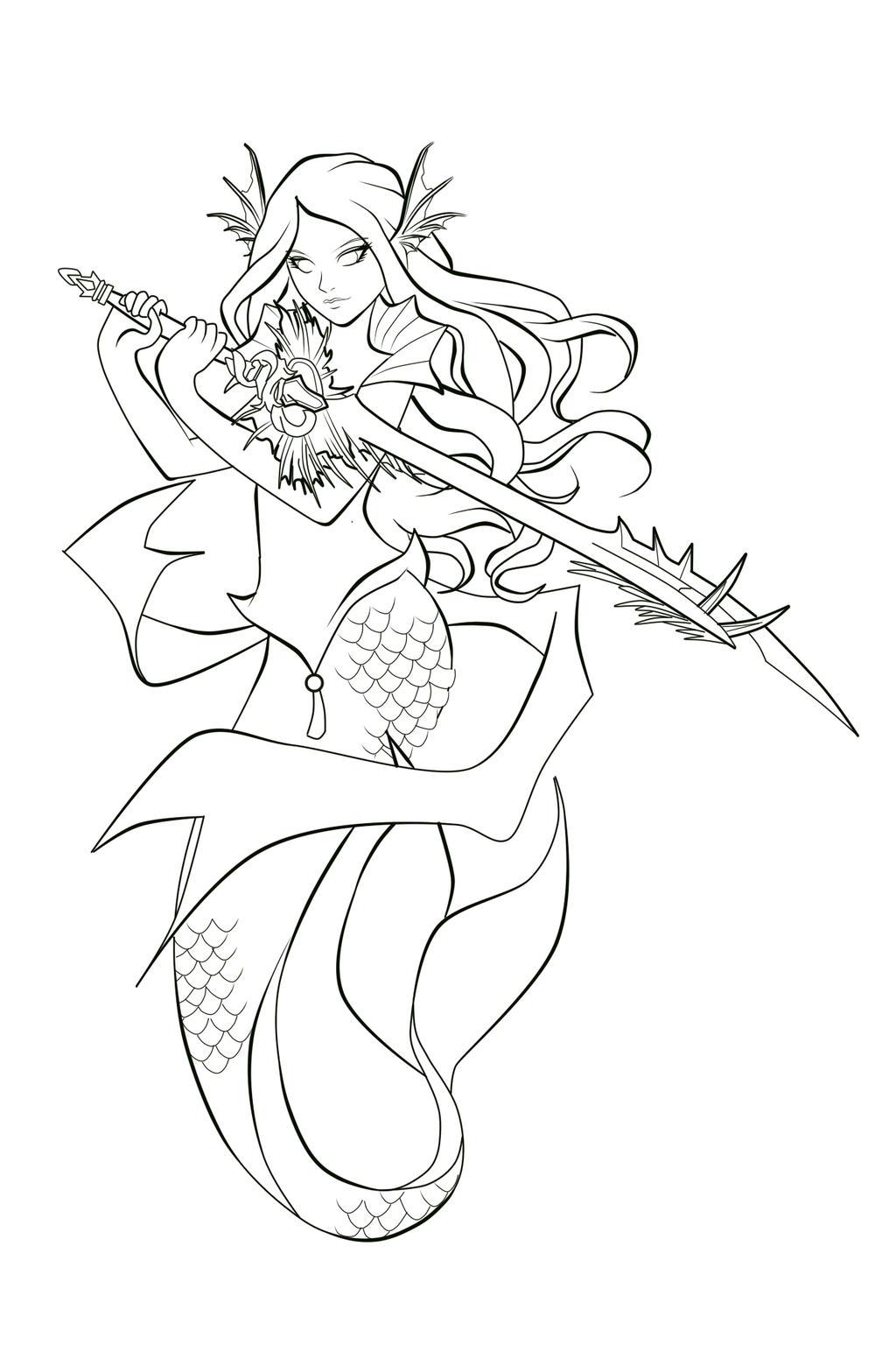 Mermaid Tattoo: PLEASE READ. by bishounenhunter on DeviantArt |Mermaid Line Drawing