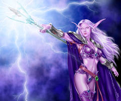 World of Warcraft - Elf 02 by IsraLlona
