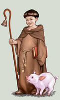 Little Saint Anthony Abbot by IsraLlona