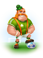 Concept Character for a Soccer Game by IsraLlona