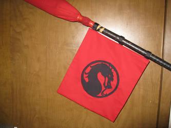 Red Polearm Flag - Mortal Kombat by PsychoFaye