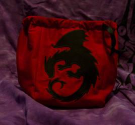 Dragon Dice Bag by PsychoFaye