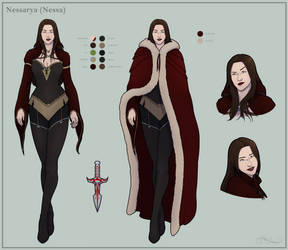 Nessa Reference Sheet - Commission