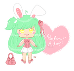 Minty Pink Bun Adopt - $7 [open] by SquiggleCakes