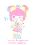 [Open Adopt] Bubblicious Neon Bear Cutie by SquiggleCakes