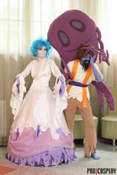 Fallen Bishop Hibram and Banshee cosplay